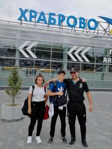 Вика, Валера и Давид Александрович