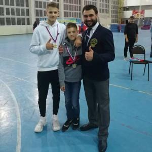 Каверины Валерий и Кирилл с Давидом Александровичем